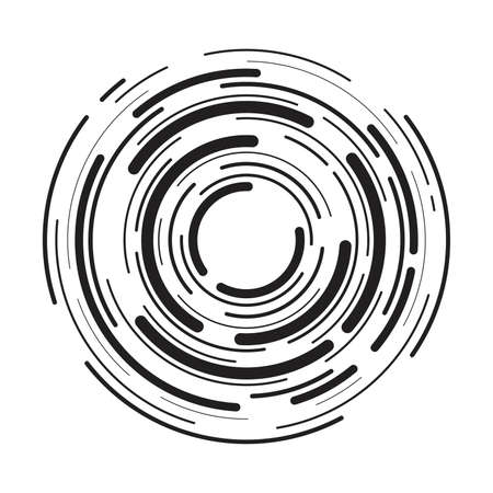 Abstract radial  of concentric ripple circles. circular lines graphic pattern.