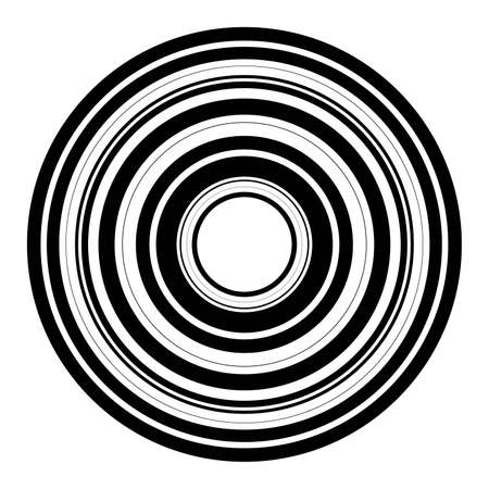 Abstract radial  of concentric ripple circles. 向量圖像