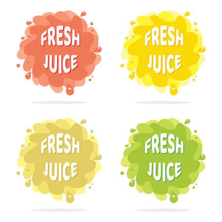 Colorful juice splash isolated