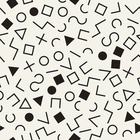 Seamless geometric pattern, memphis or hipster style.