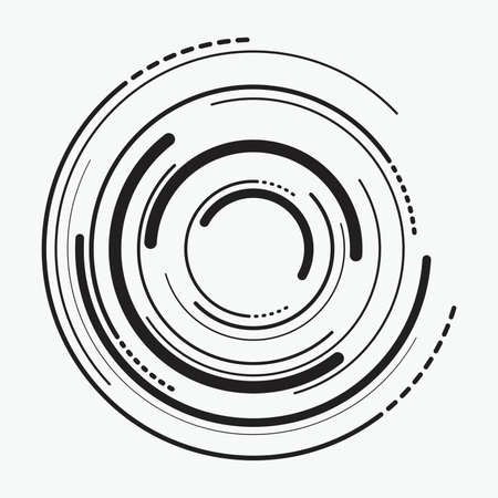 Abstract radial   of concentric ripple circles.