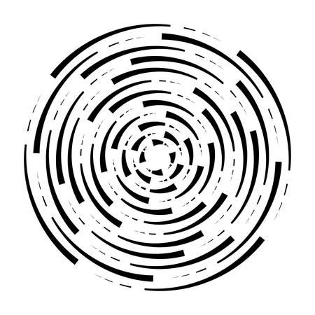 Abstract radial  of concentric ripple circles. Illusztráció