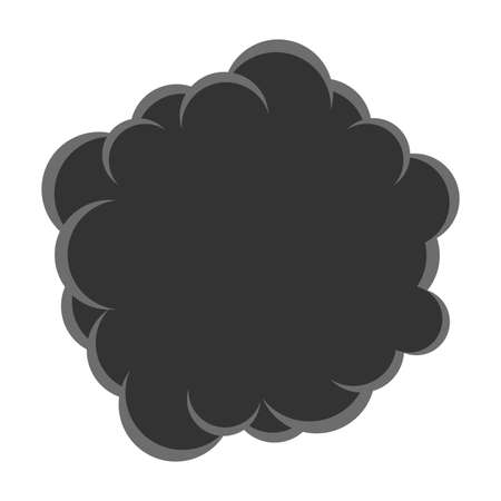 vector cloud of smoke pollution. black cloud of co2 gas in the air. carbon dioxide smog icon. illustration of environment pollution of atmosphere or smoke from bomb explosion isolated on white  イラスト・ベクター素材