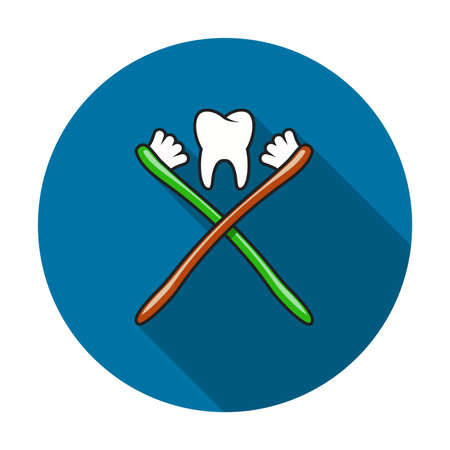 vector toothbrush and healthy tooth icon