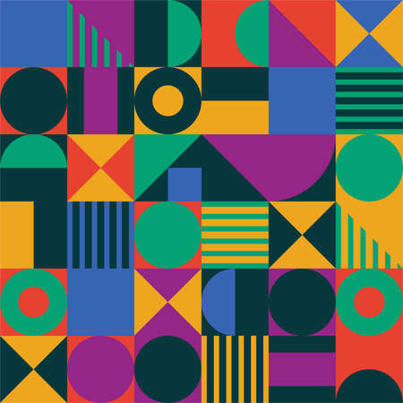 Abstract geometric shape pattern. Imagens - 128032918