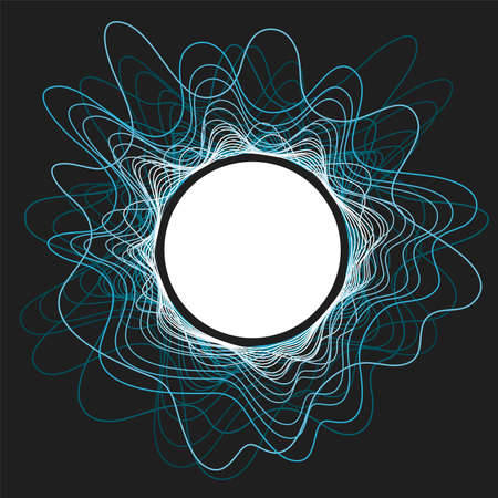 Music  of audio sound wave pulse in circle.