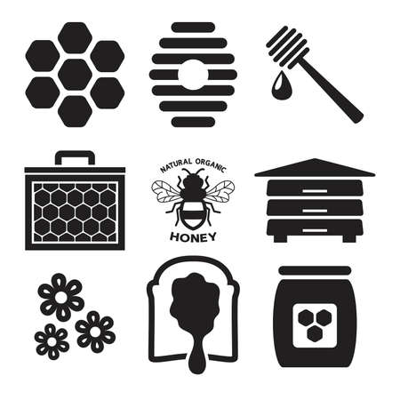 Bee icon isolated on white Ilustração