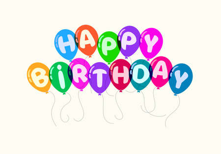 Happy birthday  for greeting cards.