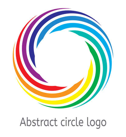vector background of round circle with rainbow colors. abstract color circle logo for graphic design, business illustration