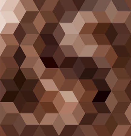 vector chocolate mosaic background pattern. milk and dark chocolate tiles. brown mosaic texture for food backgrounds