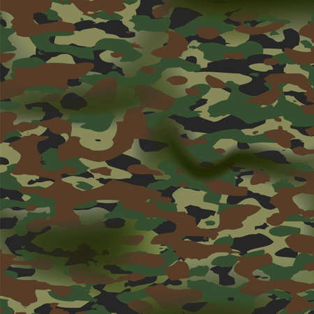 vector summer camouflage background pattern. army military textile, camoflage clothing design with folds. eps10 illustration