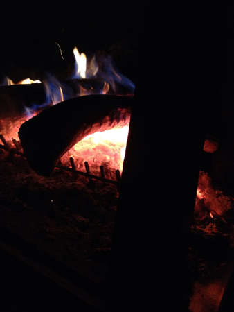 Picture of a relaxing campfire