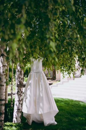 Beautiful bride wedding dresses separately
