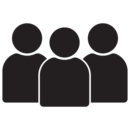 People icon, group icon. People icon in the flat style, People icon for web design. Ilustração