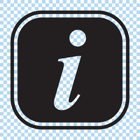 Information sign icon, info icon, letter i vector