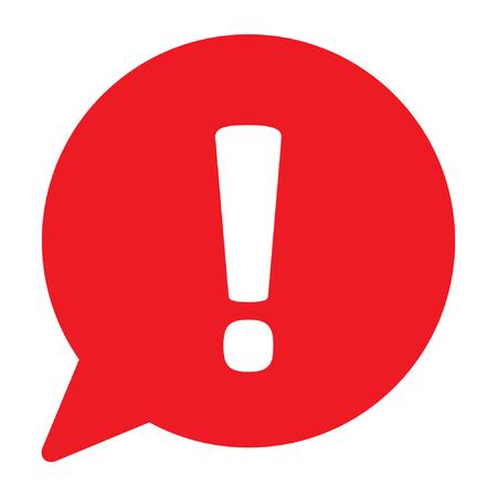 Panneau de danger, panneau d'avertissement, signe d'attention dans une bulle de dialogue, illustration vectorielle Vecteurs