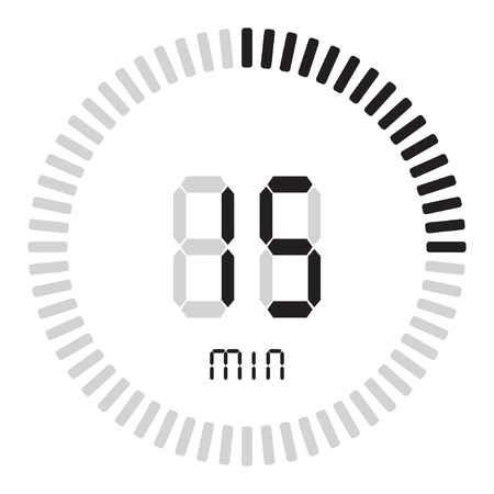 The digital timer 15 minutes. electronic stopwatch with a gradient dial Ilustração