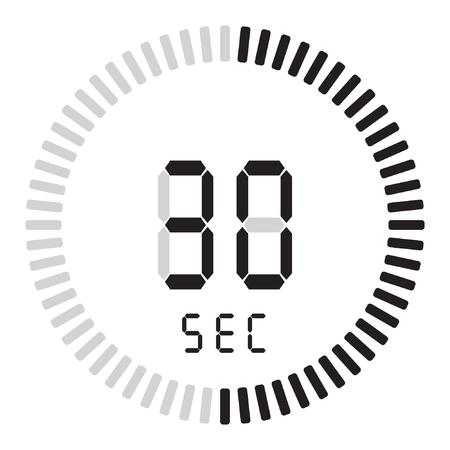 Il timer digitale 30 secondi. cronometro elettronico con quadrante sfumato