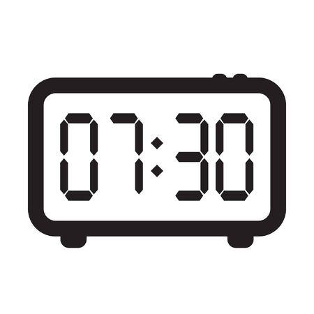 Digital alarm clock vector icon, electronic alarm clock icon