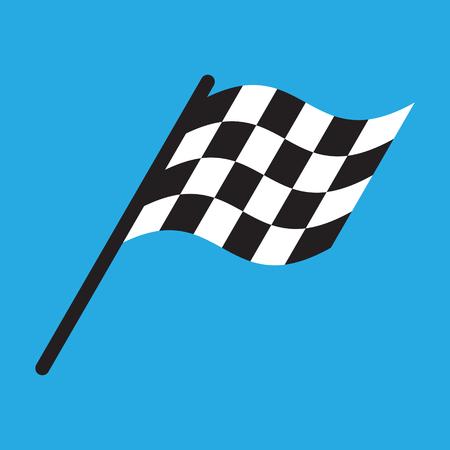 Vettore dell'illustrazione del design semplice della bandiera della corsa