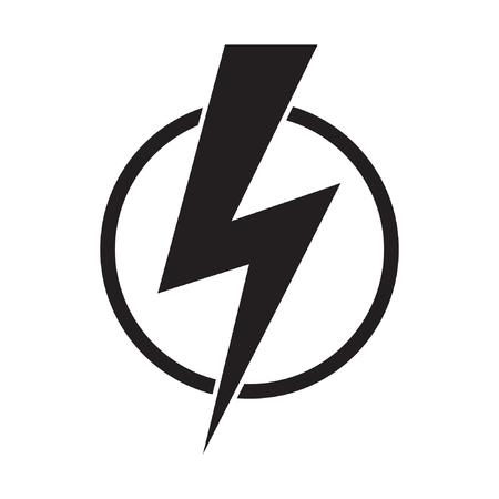 Lightning bolt, electricity power vector icon Illustration
