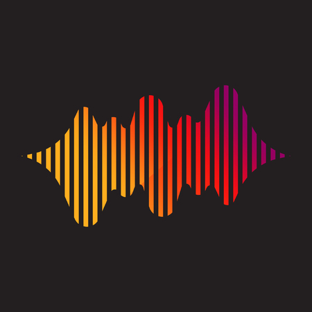 Abstract music or sound wave logo Ilustrace