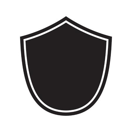 Icône de bouclier. Icône de protection. signe de vecteur