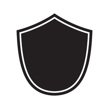 Schild-Symbol. Schutzsymbol. Vektorzeichen