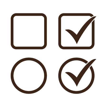 Checkbox set icon checkbox vector icon Standard-Bild - 122775117