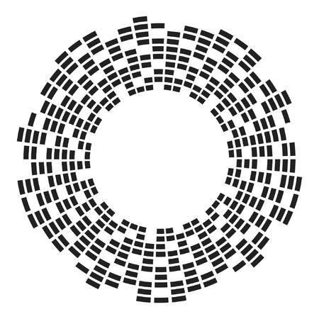 Equalizer music sound wave circle vector icon icon design. Equalizer icon isolated. Standard-Bild - 122775119