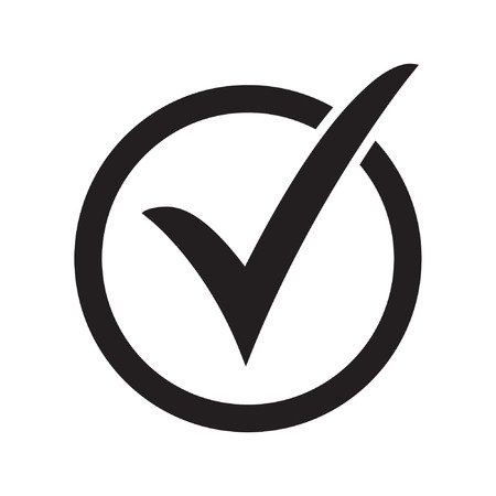 Check mark or checkbox pictogram Standard-Bild - 122775123