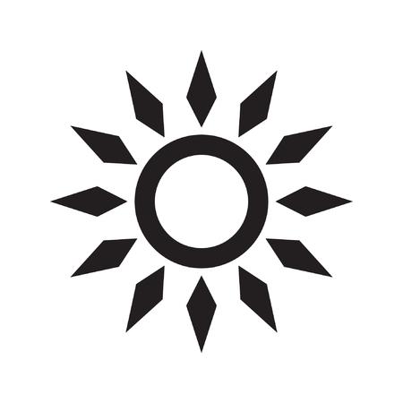 Sun icon vector isolated Standard-Bild - 122775124