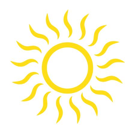 Sun icon vector isolated 向量圖像