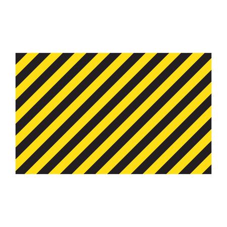 Warning striped rectangular background Illustration