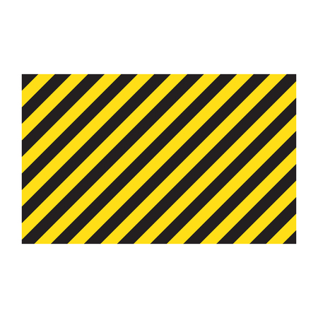 Warning striped rectangular background Ilustração