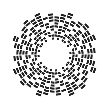 Equalizer music sound wave circle vector icon icon design. Equalizer icon isolated.