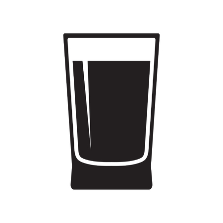 Water glass icon vector isolated Standard-Bild - 122616988