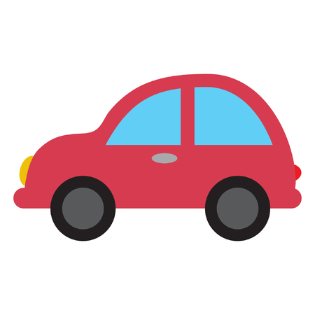 Cartoon toy car for kids, flat vector illustration.