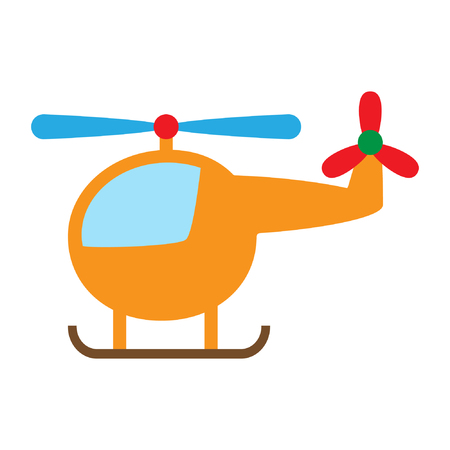 Cartoon toy helicopter flat vector illustration. Standard-Bild - 122616997