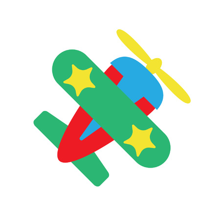 Plane airplane for kids, flat vector illustration Standard-Bild - 122616999