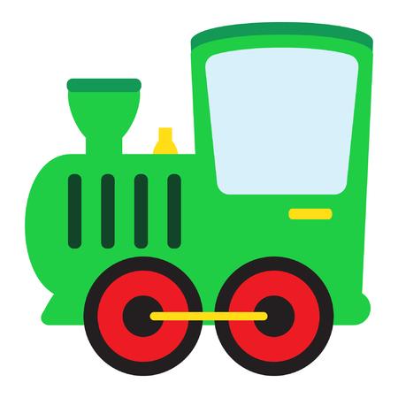 Cartoon toy train vector illustration. Standard-Bild - 122617000