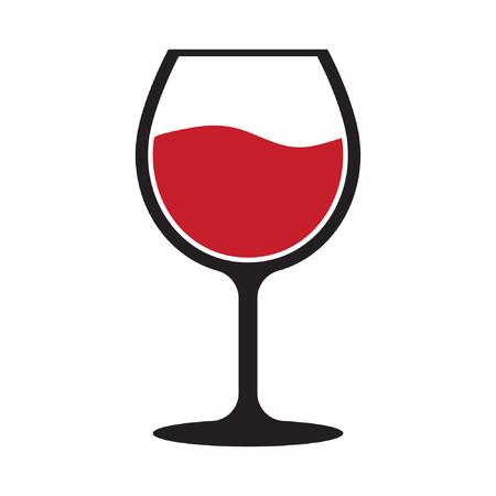 Red wine glass icon Standard-Bild - 122617001
