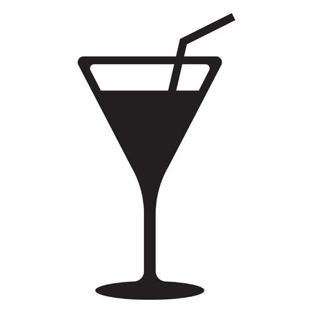 Cocktail vector icon, drink icon Standard-Bild - 122617108