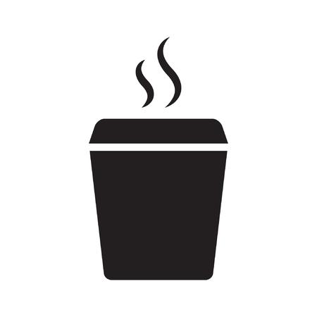Plastic cup icon, flat style Standard-Bild - 122617109