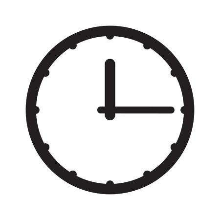 Clock icon, time icon vector Standard-Bild - 122617114