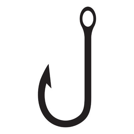 Fishing Hook icon vector isolated Standard-Bild - 122617125