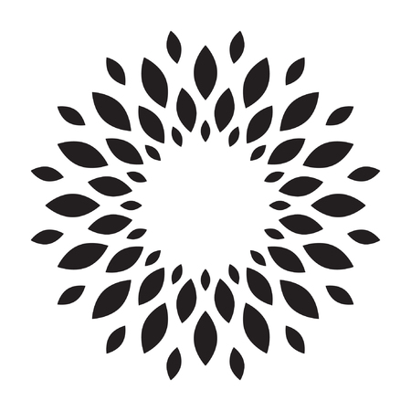 Sun, flower, Sunflower logo vector isolated