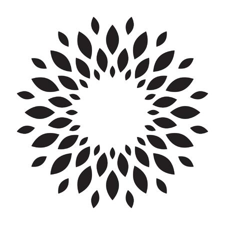 Sun, flower, Sunflower logo vector isolated Standard-Bild - 122617164