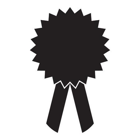 Award icon vector isolated solid Standard-Bild - 123535808