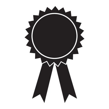 Award icon vector isolated solid Standard-Bild - 123535809